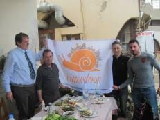 With Cittaslow president Gianluca Marconi in Yeniboğaziçi